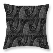 Nine Times On Black Throw Pillow