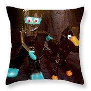Ninja Gumby And Ninja Pokey Throw Pillow