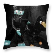 Ninja Gumby And Ninja Pokey Too Throw Pillow