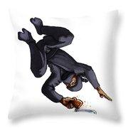 Ninja Making Toast Throw Pillow