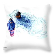 Ninja Stealth Disappears Into Bubble Bath Throw Pillow