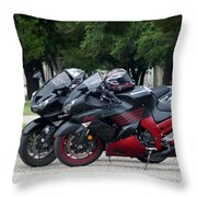 Ninja Zx14 Throw Pillow