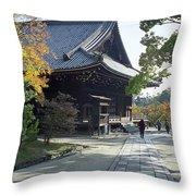 Ninna-ji Temple Compound - Kyoto Japan Throw Pillow