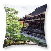 Ninna-ji Temple Garden - Kyoto Japan Throw Pillow