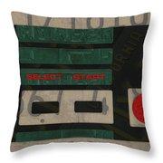 Nintendo Controller Vintage Video Game License Plate Art Throw Pillow