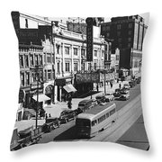 Ninth Street In Brooklyn Throw Pillow