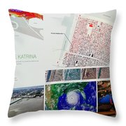 Ninth Ward Sign Throw Pillow