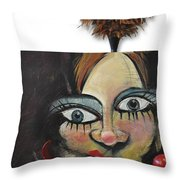 Nip And Tuck Throw Pillow