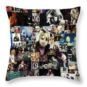 Nirvana Collage Throw Pillow