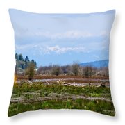 Nisqually Delta Of The Nisqually National Wildlife Refuge Throw Pillow