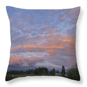 Nisqually Valley Sunset Throw Pillow
