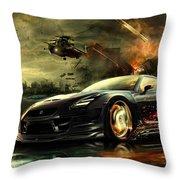 Nissan G T R Throw Pillow