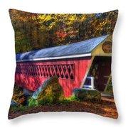Nissitissit Bridge Brookline Nh Throw Pillow by Joann Vitali