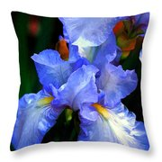 Nita's Iris Throw Pillow