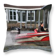 Nitro Boat Throw Pillow