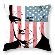 Lyndon Johnson Throw Pillow