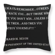 Nixon Quote In Negative Throw Pillow