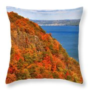 N.j. Palisades Awesome Autumn  Throw Pillow
