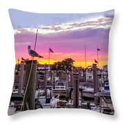 Nj's Sunset Throw Pillow