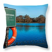 No Bathing Sign Throw Pillow