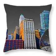 No Color Bean Throw Pillow