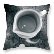 No Cream For My Coffee Throw Pillow
