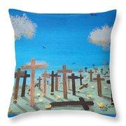 No Cross No Crown 2 Throw Pillow