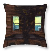 No Curtains Throw Pillow
