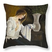 No Daughter Throw Pillow