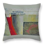 No Dumping - Drains To Ocean No 2 Throw Pillow