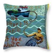 No Effort Is Futile Throw Pillow