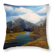 No Electronics Here Throw Pillow