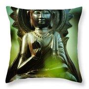 No Fear Throw Pillow by Rebecca Sherman
