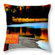 No Fishing IIi Throw Pillow