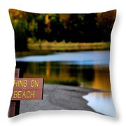 No Fishing Throw Pillow