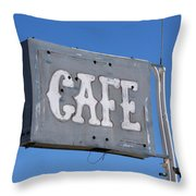 No Food Here Throw Pillow by Art Block Collections