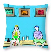 No Frisbee In The Gallery Throw Pillow