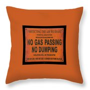 No Gas Passing Throw Pillow