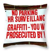 No Graffiti Throw Pillow