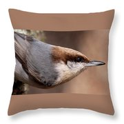 No Hands - Fayetteville - Nuthatch Throw Pillow