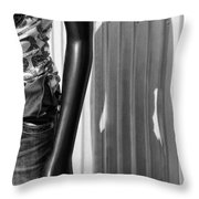 No Head For Fashion Throw Pillow