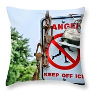 No Ice Skating Today Throw Pillow
