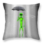No Intelligent Life Here Throw Pillow by Mike McGlothlen