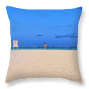 No Life Guard On Duty Throw Pillow