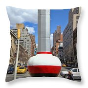No Limits Exhibit Metlife Building Midtown Throw Pillow