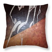 No Looking Back Throw Pillow