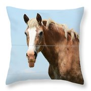 No Manners Throw Pillow