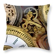 No More Time Throw Pillow by Tom Gari Gallery-Three-Photography