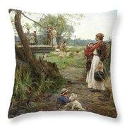 Not Of The Fold Throw Pillow