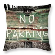No Parking Throw Pillow